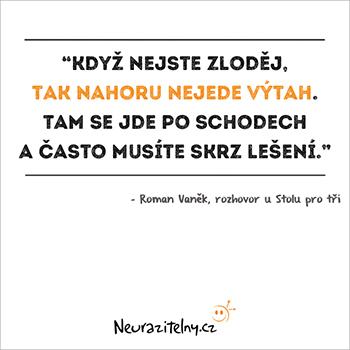 Roman Vaněk citáty 1