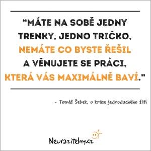 Tomáš Šebek rozhovor citáty 2