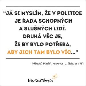 Mikuláš Minář rozhovor citáty 2