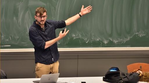 Přednáška Janka Rubeše byla plná názorných a vtipných ukázek